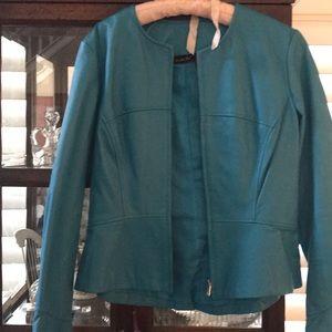 Jackets & Blazers - Leather jacket aqua color